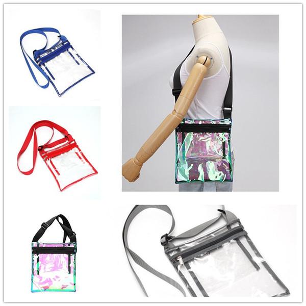 Transparent Laser TPU Shoulder Bag Women Girls Summer Plastic Jelly Messenger Handbag Colorful Laser Travel Holographic Crossbody Bag A41801