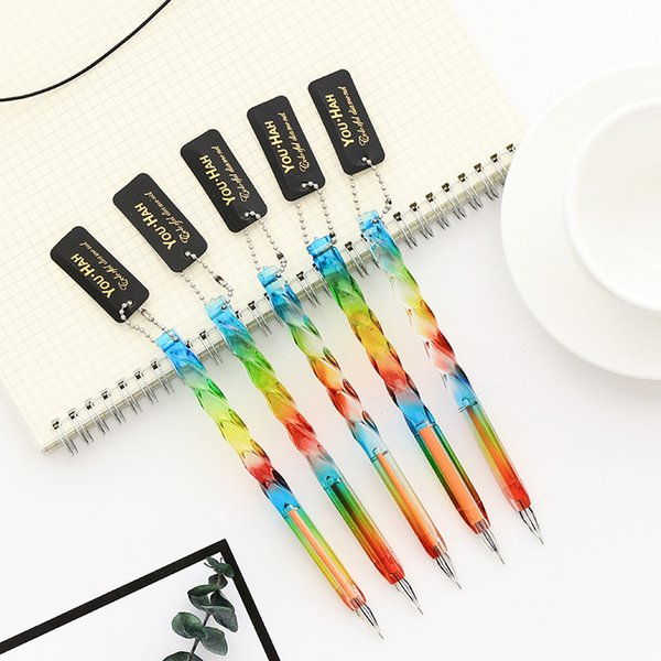 36 pcs/lot colorful transparent crystal gel pens cute 0.5mm black ink neutral pen stationery school writing supplies