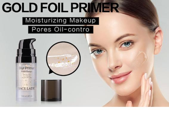 DHL Free Original Blur Primer Makeup Base Face 24k Gold Elixir Oil Control Matte No Pores Liner Full Cover Foundation Moisturizer Gel