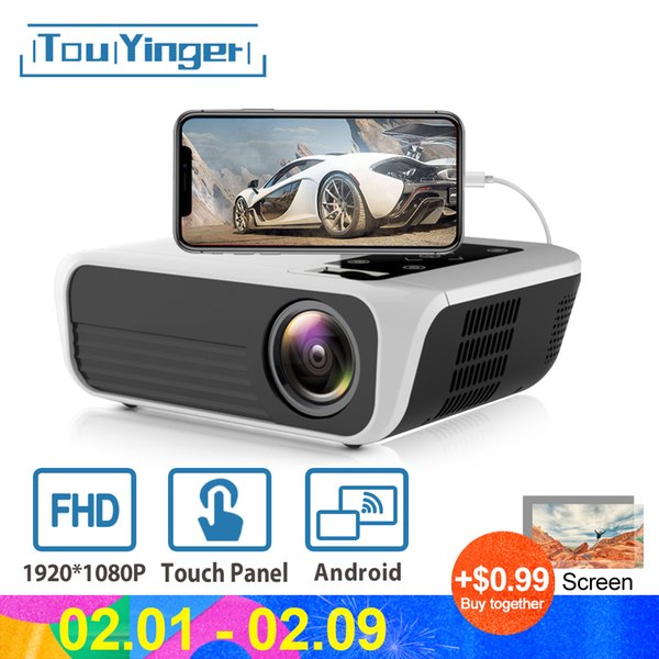 HD 1080p LED Android Projector Bluetooth Home Theater USB HDMI Multimedia Mirror