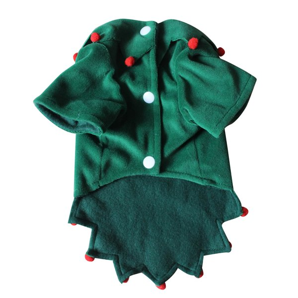 Christmas Cat Clothes Pet Dog Cat Costume Winter Christmas Pet Coat Apparel Cotton Clothes Ornament with hat free shipping by DHL