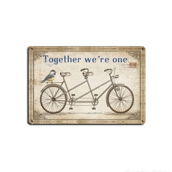 20*30cm Bicycle Metal Tin Signs Vintage Posters Old Wall Metal Plaque Club Wall Home art metal Painting Wall Decor Art Pictures