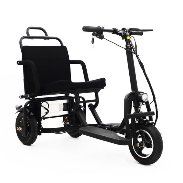 top popular Aluminum alloy folding electric tricycle 8inch and 10inch elderly electric bike can enter the elevator folding electric bicycl 2020