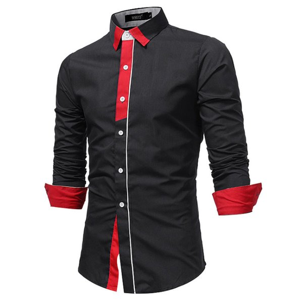 Marke 2019 Mode Placket Männliches Hemd Langarm Tops Britischen Business Casual Hemd Herrenhemden Dünne Männer Hemd Xxxl