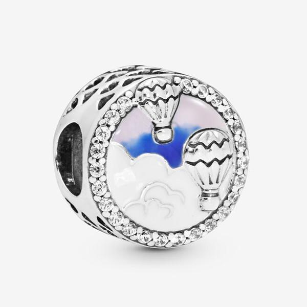 Fit bijoux Pandora Hot Air Balloon Trip Charm Perles Bracelet en argent Sterling 925 Original European Charms Collier Collection