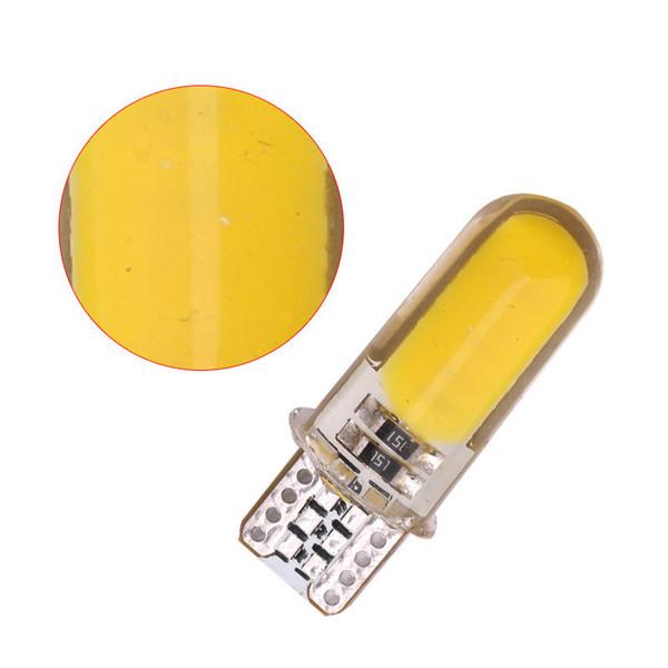 100PC Auto T10 Led Cold White 194 W5W LED 168 COB Silica Car Turn Side License Plate Light Lamp Bulb DC 12V