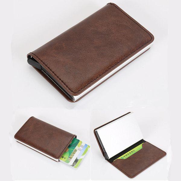 2019 femmes hommes carte de crédit cas titulaire de la carte de visite pour les cartes en plastique sac à main automatique cartes de crédit femmes portefeuille