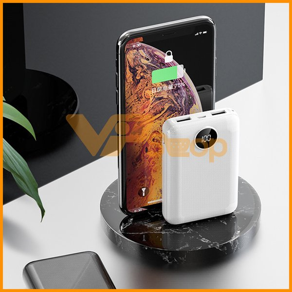 Mobile Phone Power Bank 10000mAh Dual USB Cell Phone Power Banks External Battery Fast Charge For iPhone Portable Charger Mini PowerBank
