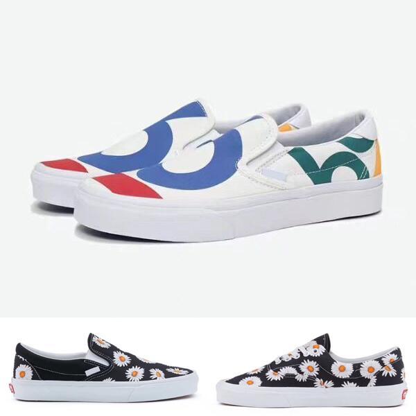 2019 New ERA 1966 Nice chrysanthemum Old Skool Designer Cavnas Sneakers Womens Men Low Cut Skateboard Casual Skate Shoes 35-10