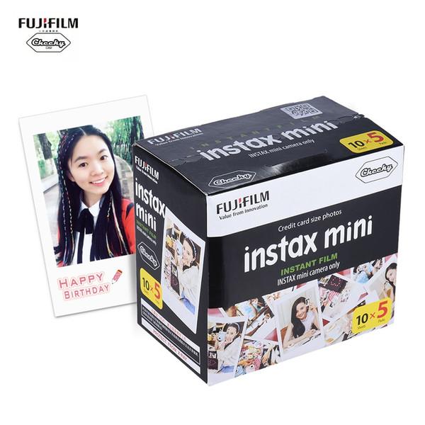 Fujifilm Instax Film Mini Film bianco Carta fotografica Album Istantanea Stampa istantanea 50 fogli per fotografia fotografica 7s / 8/25/90
