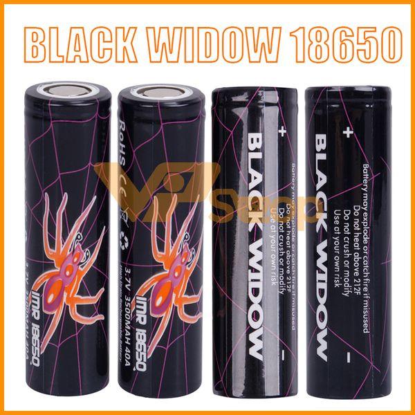 100% de alta calidad BLACK WIDOW 18650 Batería 3500mAh IMR 3.7V 3500 40A E Cig Alto Drenaje Batería de litio recargable celular
