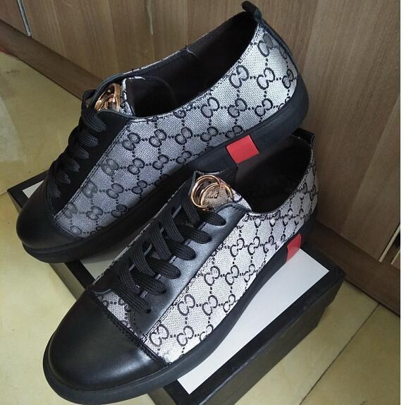 Verkaufe Marke Freizeitschuhe Sommer neue Sneaker Trend Schuhe koreanische Version Low-Top Mode Leder Herrenschuhe, Freizeitschuhe, Wanderschuhe G1.51