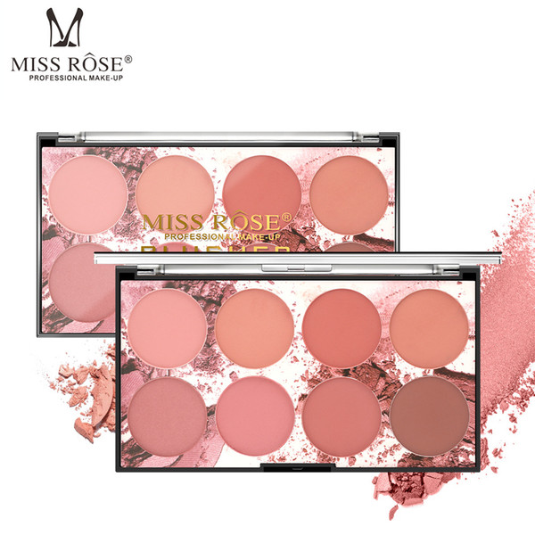 MISS ROSE Eight-color Blush Natural Moisturizing Cleansing Lotion Nude Makeup Makeup Rouge Cream Makeup Free Shipping 1215