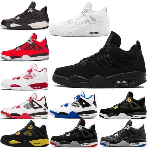 0c52211b299 Nike Air Jordan retro 4 Zapatillas de baloncesto 2019 Jumpman IV Pure Money  Black Cat 4s