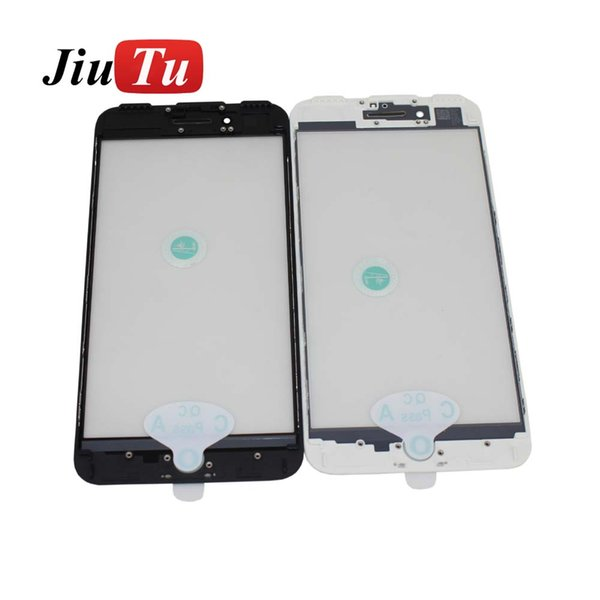 For iPhone 8G 8 Plus 7G 7 Plus 6S 6S Plus Front Glass With OCA Film Frame For Cracked LCD Repair Fix