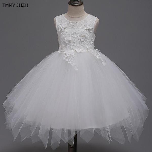 Girls Dress 2019 Summer New Children's Dresses Girls' Princess Skirts White Costumes TuTu Dresses kids dresses for girls