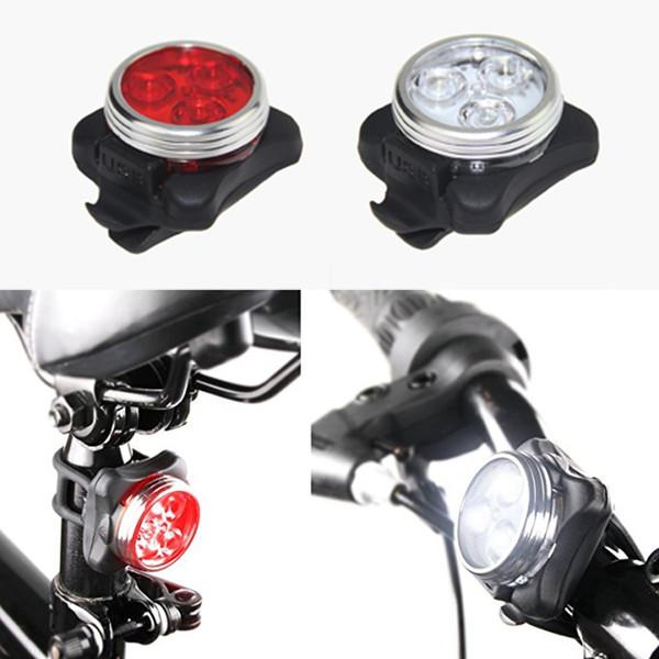 extérieur COB étanche vélo 3 LED USB rechargeable 4 Modes vélo Nuit rideFront tête de la lampe arrière Feu arrière