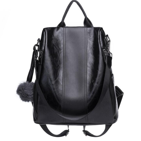 Ladies Korean version of the new wild washed leather handbags multi-purpose dual-use shoulder soft leather backpack free shipping#003