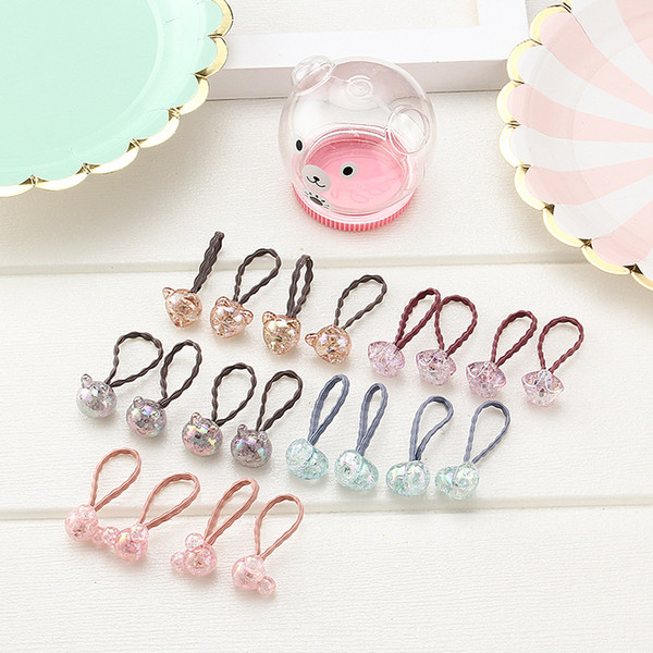 New Cute Transparent Children'S Hair Ring