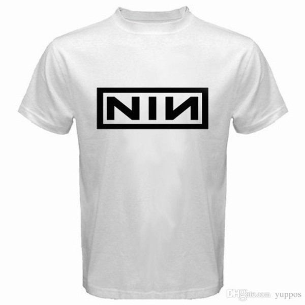 Newest 2018 New NIN NINE INCH NAILS Rock Band Logo Men's White T-Shirt Size S to 3XL Printed t shirt Men t shirt Casual Tops