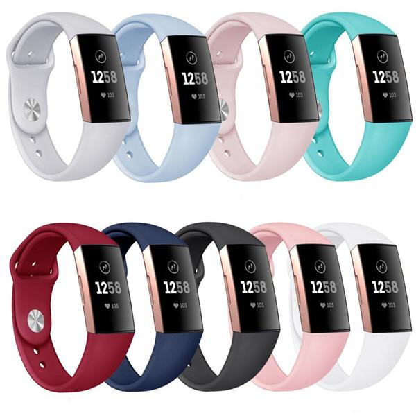 Silicone Sport Band Replacement For Fitbit Inspire HR Charge 3 2 Versa Samsung Galaxy Watch Active Band Wrist Strap