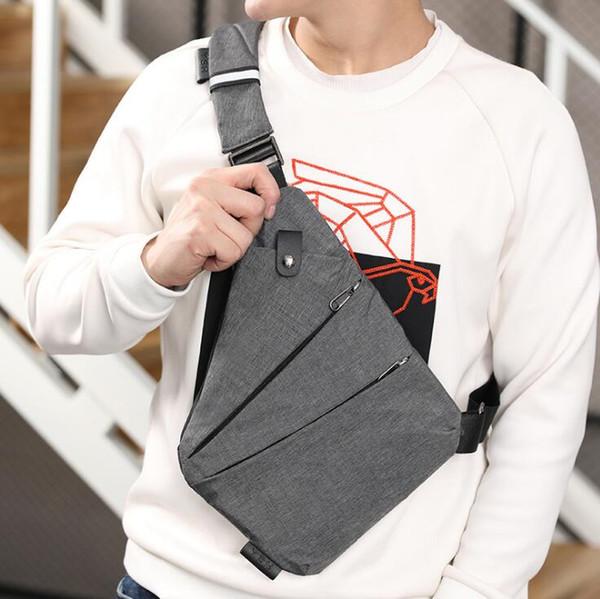Die heißesten Designer-Speicher-Gewehr sackt die Sport-Segeltuch-Brust-Beutel-Crossbody-Gürteltasche der Männer Multifunktionsschulter diebstahlsichere Tasche ein