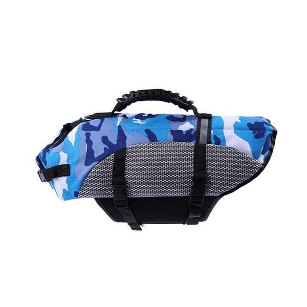 best selling Buoyant Adjustable Pet Lief Preserver Dog Safety Vest Puppy Life Jacket For Swimming Boating C19041201