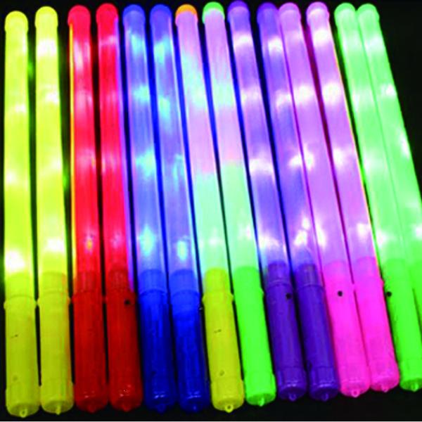 Bracelets Rave éclairage clignotant jouet bâtons lumineux pour la célébration de Noël Fêtes Cérémonie Avec Connect 48cm Taille Big 20pcs