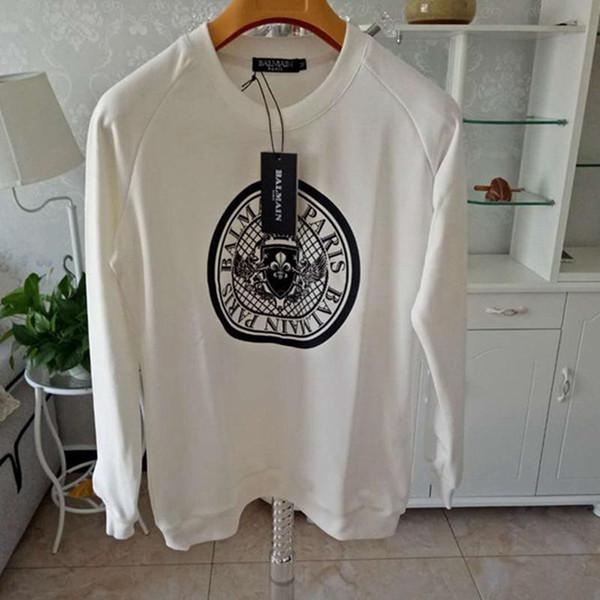 الرجال مصمم تي شيرت أسود أبيض تصميم عملة أزياء الرجال مصمم تي شيرت الأعلى طباعة كم طويل S-XXL LJJA2374