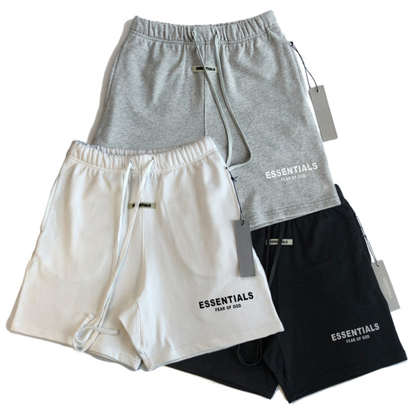 top popular 2020ss Fear Of God Mens Short Pants Casual Essentials Letter-printed trousers with loose loops and hip-hop shorts Summer Shorts top quality 2021