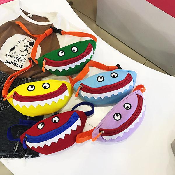 Bebek Köpekbalığı Çanta Karikatür Mini Cüzdan Cep Küçük Canavar Eğimli Omuz Çantası Seyahat Paketi Moda Güzel Yeni Fermuar Ağız 7sc B1