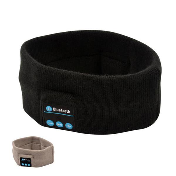 Kablosuz Bluetooth Kulaklık Uyku Müzik Bandı Şapka Yumuşak Sıcak Spor Koşu Kulaklık Akıllı Telefonlar Için Mikrofon Ile Handfree