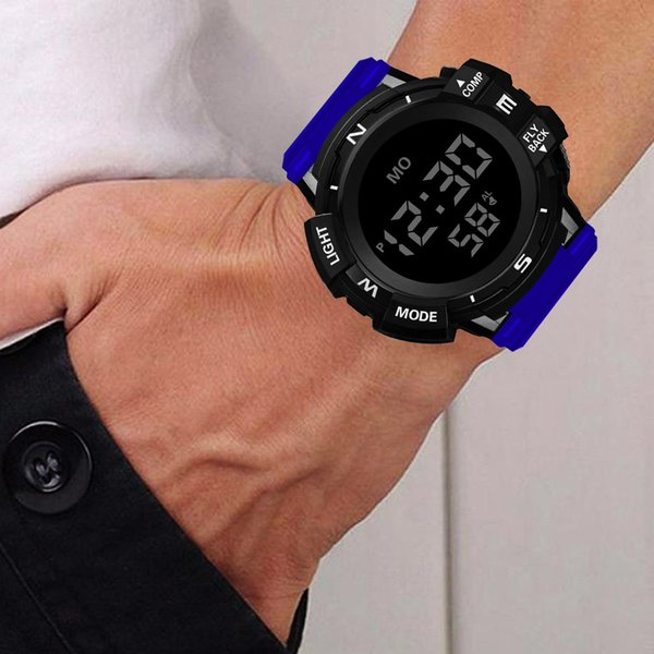 honhx luxury mens digital led watch date sport men outdoor electronic watch relogio lover gift support wholesale dropship #924