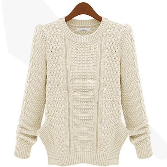 Chaqueta de abrigo de manga larga de punto de mujer de estilo americano de la UE Chaqueta de abrigo largo Nuevo suéter casual con envío gratis