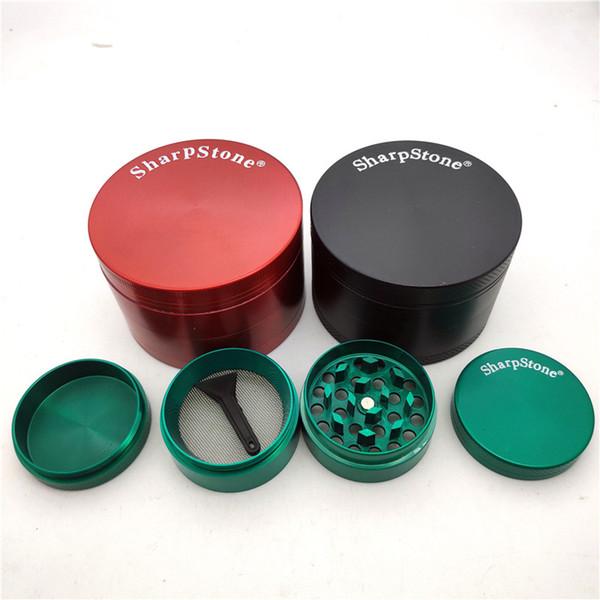 kuru ot tütün boru için diş filtre net kuru ot buharlaştırıcı kalem CNC 63mm 4 parça SharpStone Tütün Öğütücü ot değirmeni