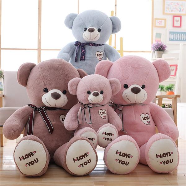 1 stück große ich liebe dich teddybär große gefüllte plüsch spielzeug fliege teddybär weiche geschenk für valentinstag geburtstag mädchen brinquedos