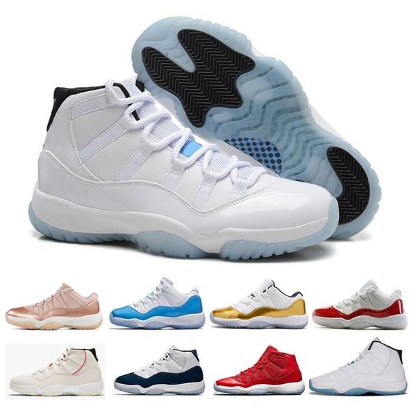 Nouveau 11 hommes femmes Chaussures de basket air haut bas le 11s Bleu Rouge Velours Barons Race Fermeture Geremony Rose Gold Navy Gum j11 rétro Baskets