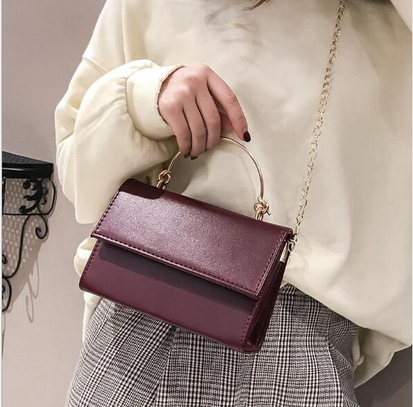 2019 yeni ins süper yangın taşınabilir küçük çanta kadın kore versiyonu vahşi chic zincir omuz Messenger çanta