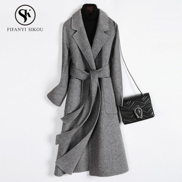 klassisch Wolle Wollmantel Mantel schwa Wintermantel Damen Winter Imf6Ygb7yv