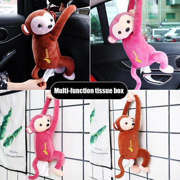 New Car Tissue Cover Box Cute Cartoon Plush Paper Container Napkin Storage Holder Home Decor Room Car Accessory Drop Shipping