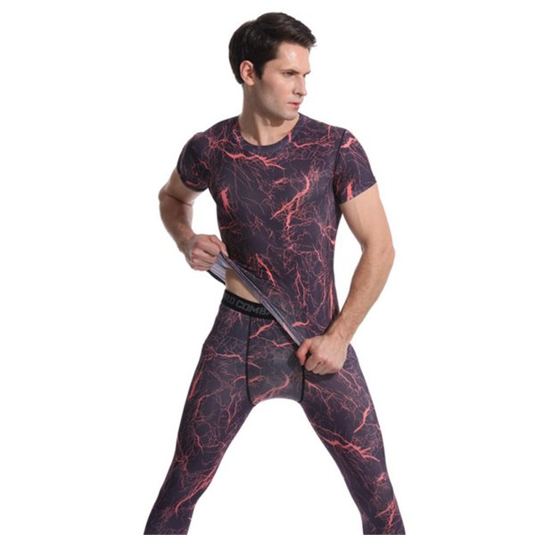 Men's Sport Tee Tops Running T-Shirt Polyester Spandex Quick Dry Short Sleeve Breathable Clothing Printing Sport T-shirt