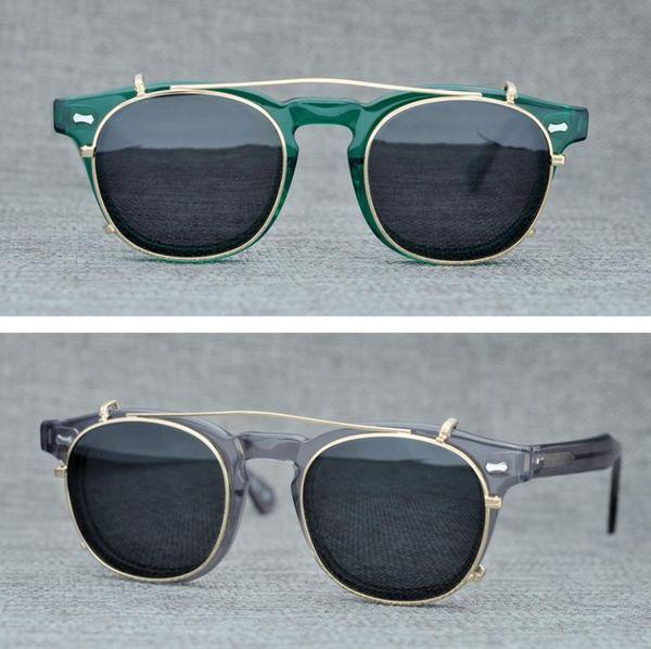 f9f05f5425 Brand Moscot Lemtosh Clip-on Polarized Sunglasses for Men Women Round Sun  Glasses Eyeglasses Frames Optical Glasses with Original Case