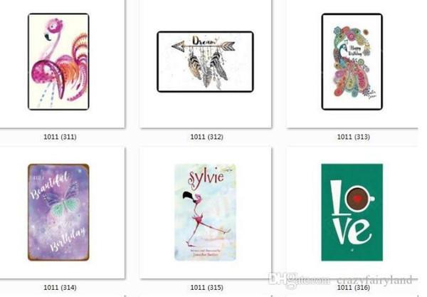 Tin Signes De Mode Fleur De Crâne Plante Mur Art Mur Peinture En Métal ART Bar Homme Cave Cave Restaurant Restaurant Décoration 666
