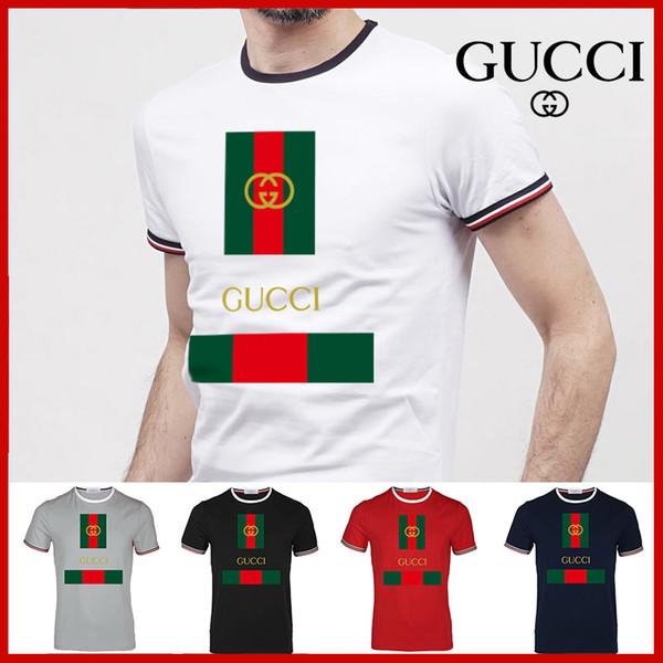Camiseta de EE.UU. camiseta de fútbol Marca camiseta ajuste flojo ocasional de los hombres de moda de manga corta del O-cuello remata tes masculina G8 camiseta de alta calidadGucci