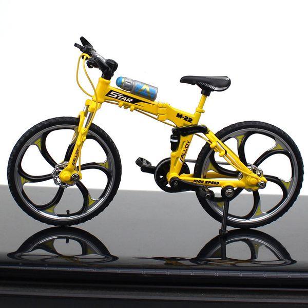 Bici de montaña plegable amarillo