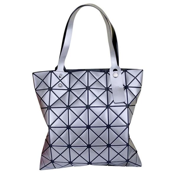 Japan Three House Lifetime Single Shoulder Woman Package Geometry Diamond Lattice Laser Light Noodles Fold Handbag