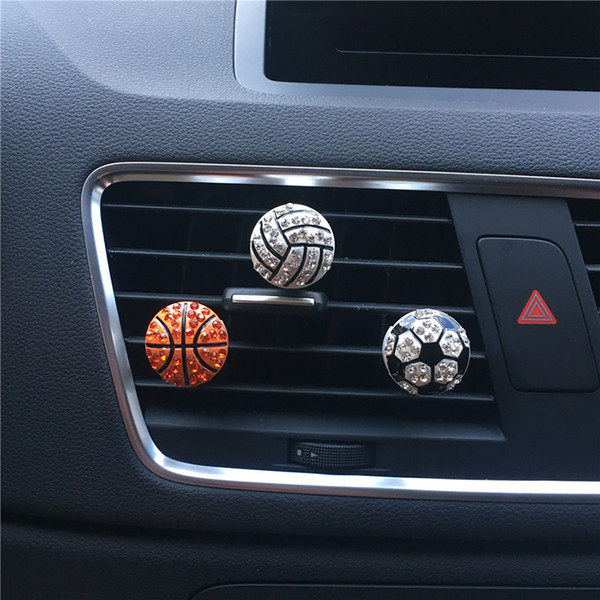Auto Interior Decor Diamond Soccer Basketball Vent Clip Car Aroma Diffuser Car Flavor Scent Air Freshener In The Accessories