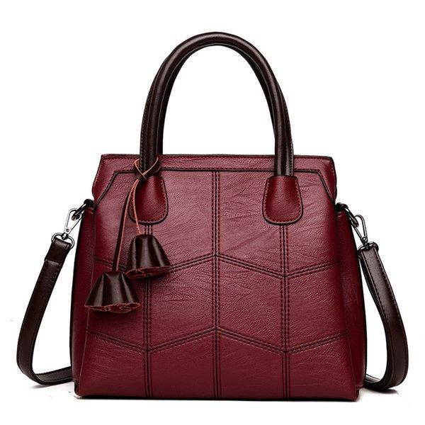Vanderwah Sac À Bandoulière En Cuir De Haute Qualité Bolsas Feminina De Luxe Lady Sacs À Main Casual Grande Capacité Femmes Tote Bag Sac Une Main
