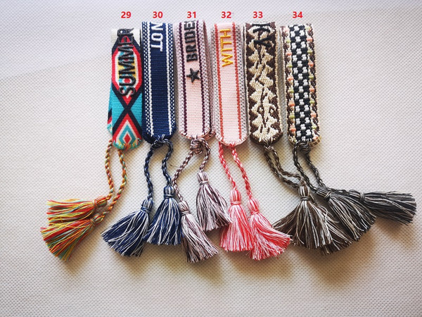 top popular Designer Jewelry Women Bracelets, Woven cotton friendship bracelets for loved couple and best friends with pull string tassels 2021