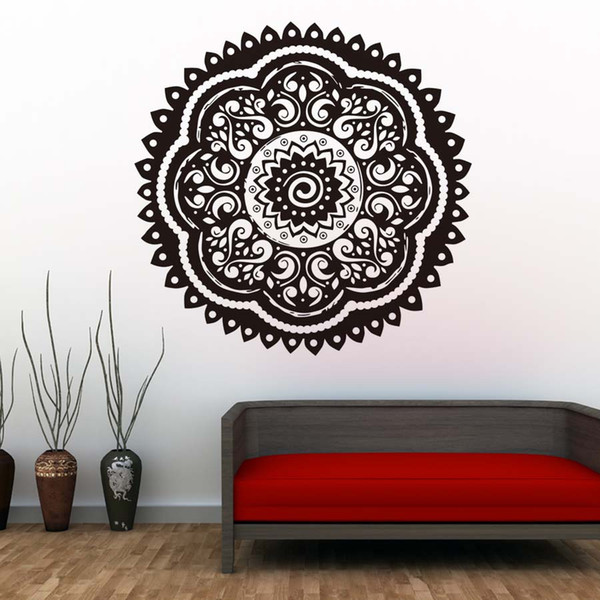 1 Pcs Believer Home Decor Wall Stickers Indian Mandala Pattern Vinyl Art Wall Decals Murals Bedroom Wallpaper